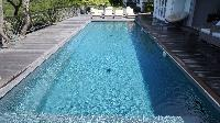 cool swimming pool of Saint Barth Villa Serenity luxury holiday home, vacation rental