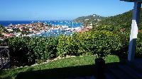 cool garden of Saint Barth Villa Serenity luxury holiday home, vacation rental