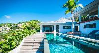 cool swimming pool of Saint Barth Villa Jocapana luxury holiday home, vacation rental
