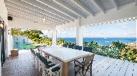 cool balcony of Saint Barth Villa Jocapana luxury holiday home, vacation rental