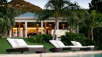 cool poolside of Saint Barth Villa Cumulus luxury holiday home, vacation rental