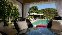 cool swimming pool of Saint Barth Villa Cumulus luxury holiday home, vacation rental