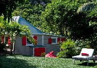 neat garden of Saint Barth Villa Cumulus luxury holiday home, vacation rental