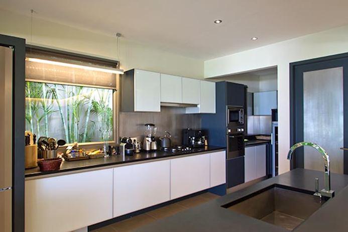 modern kitchen appliances in Saint Barth Villa Cumulus luxury holiday home, vacation rental