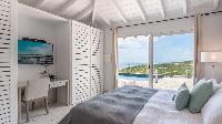 fresh bedroom linens in Saint Barth Villa Avalon luxury holiday home, vacation rental
