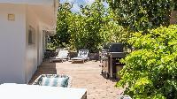 cool courtyard of Saint Barth Villa Avalon luxury holiday home, vacation rental
