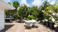cool terrace of Saint Barth Villa Avalon luxury holiday home, vacation rental