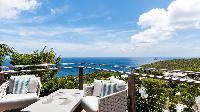 cool balcony of Saint Barth Villa Avalon luxury holiday home, vacation rental
