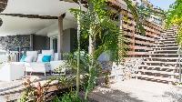 cool patio of Saint Barth Villa Avalon luxury holiday home, vacation rental