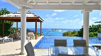 cool terrace of Saint Barth Villa - Bel Ombre luxury holiday home, vacation rental