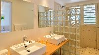 clean bathroom in Saint Barth Villa - Bel Ombre luxury holiday home, vacation rental