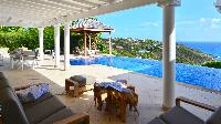 cool cabana of Saint Barth Villa - Bel Ombre luxury holiday home, vacation rental