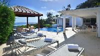 cool poolside of Saint Barth Villa - Bel Ombre luxury holiday home, vacation rental
