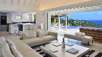 awesome living room of Saint Barth Villa - Bel Ombre luxury holiday home, vacation rental