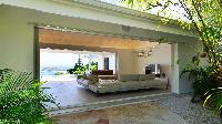 cool patio of Saint Barth Villa - Bel Ombre luxury holiday home, vacation rental