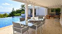 cool veranda of Saint Barth Villa - Bel Ombre luxury holiday home, vacation rental
