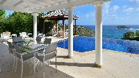 cool lanai of Saint Barth Villa - Bel Ombre luxury holiday home, vacation rental