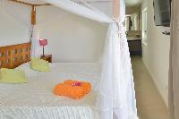 fresh bed sheets in Saint Barth Villa Habitation Saint Louis luxury holiday home, vacation rental