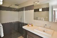 cool rain shower in Saint Barth Villa Habitation Saint Louis luxury holiday home, vacation rental