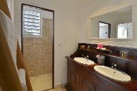 clean bathroom in Saint Barth Villa Habitation Saint Louis luxury holiday home, vacation rental