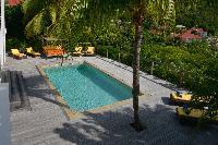 lovely garden of Saint Barth Villa Habitation Saint Louis luxury holiday home, vacation rental