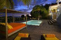 cool poolside of Saint Barth Villa Habitation Saint Louis luxury holiday home, vacation rental