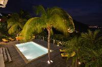 beautiful deck of Saint Barth Villa Habitation Saint Louis luxury holiday home, vacation rental