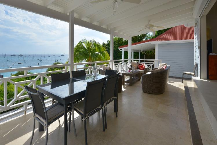 awesome sea view from Saint Barth Villa Habitation Saint Louis luxury holiday home, vacation rental