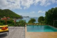 cool swimming pool of Saint Barth Villa Petit Saint Louis luxury holiday home, vacation rental