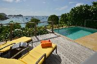 awesome sea view from Saint Barth Villa Petit Saint Louis luxury holiday home, vacation rental