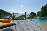 amazing sea view from Saint Barth Villa Petit Saint Louis luxury holiday home, vacation rental