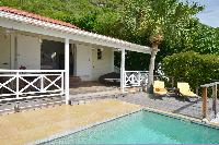 cool poolside of Saint Barth Villa Petit Saint Louis luxury holiday home, vacation rental