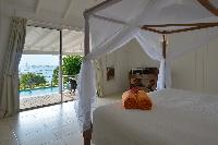 clean bed sheets in Saint Barth Villa Petit Saint Louis luxury holiday home, vacation rental