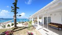 awesome beachfront Saint Barth Villa Sand Castle luxury holiday home, vacation rental