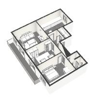 detailed plan 2 of Saint Germain des pres - Abbé Grégoire luxury apartment