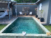 cool swimming pool of Saint Barth Villa Roche Brune luxury holiday home, vacation rental