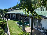 lovely garden of Saint Barth Villa Roche Brune luxury holiday home, vacation rental