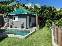 lush garden of Saint Barth Villa Roche Brune luxury holiday home, vacation rental