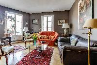 cool living room with balcony at Paris - Rue Laplace luxury apartment