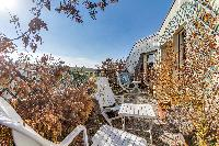 awesome roof terrace garden of Paris - Rue du Banquier Penthouse luxury apartment