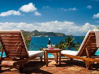 fantastic sea view from Saint Barth Villa Alizée D'Eden luxury holiday home, vacation rental