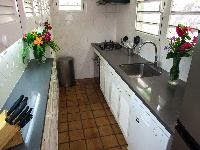 modern kitchen of Saint Barth Villa Alizée D'Eden luxury holiday home, vacation rental