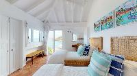 fresh bedroom linens in Saint Barth Villa Cap Au Vent luxury holiday home, vacation rental