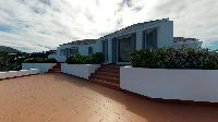 cool exterior of Saint Barth Villa Cap Au Vent luxury holiday home, vacation rental
