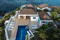 splendid aerial view of Saint Barth Villa Cap Au Vent luxury holiday home, vacation rental