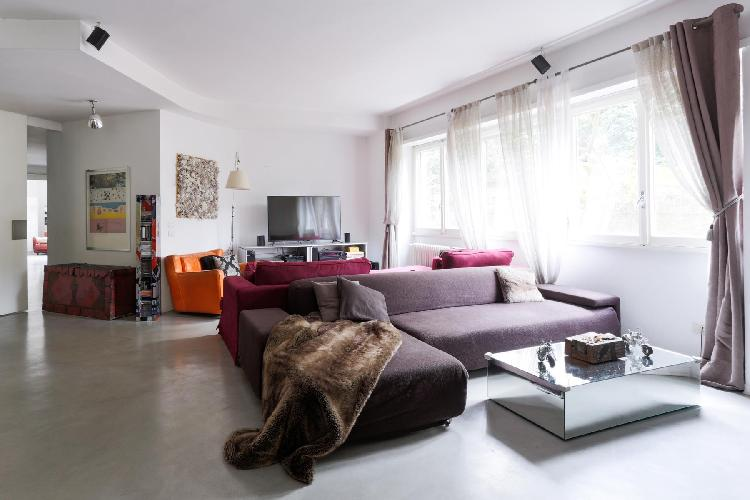 awesome living room of Rome - Via Alessandro Torlonia luxury apartment