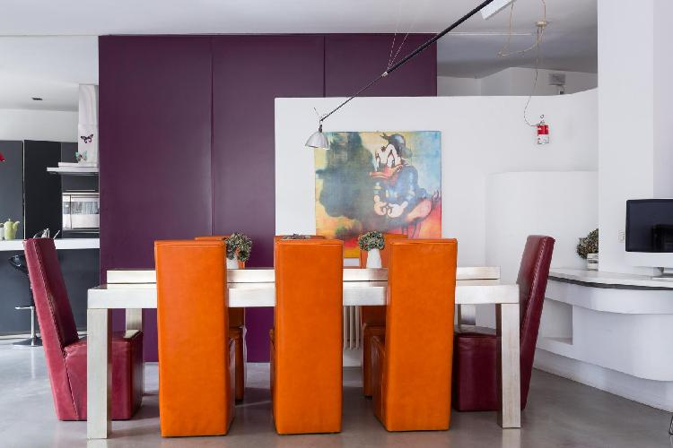 awesome dining room of Rome - Via Alessandro Torlonia luxury apartment