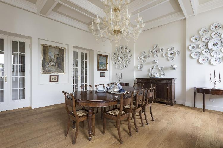 elegant dining room of Rome - Piazza Pasquale Paoli luxury apartment