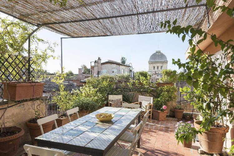awesome city view from the balcony of Rome - Via dei Falegnami luxury apartment
