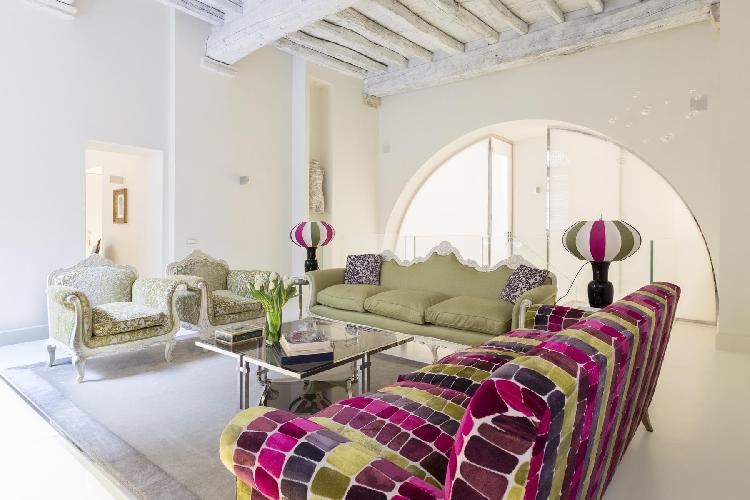 neat living room of Navona-Pantheon-Venezia - Via degli Orsini luxury apartment